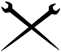 Ironworker Crossed Tools Decal