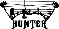 Bow Hunter Compound Decal