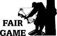 Fair Game Bow Hunting Decal
