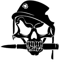 Bayonet Skull Decal