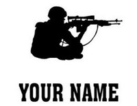 Sniper Decal With Name