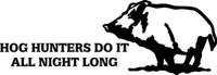 Hog Hunters Hunting Decal