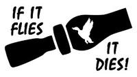 If It Flies It Dies Decal (Duck Call)