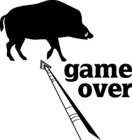 Game Over Hog Hunting Decal