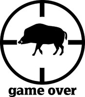 Game Over Hog Hunting Decal 2