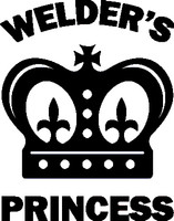 Welder's Princess Decal