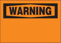 Customizable Warning BLANK Safety Sign