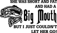 Big Mouth Fishing Decal