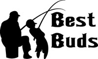 Best Buds Fishing Decal