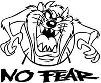 No Fear Tasmanian Devil Decal