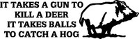 Hog Hunters Hunting Decal 1
