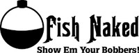 Fish Naked Fishing Decal
