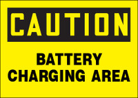 Caution Battery Charging Area