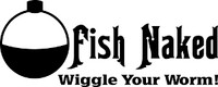 Fish Naked Fishing Decal 1