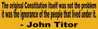 John Titor Constitution Bumper Sticker