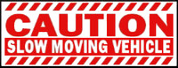 Caution Slow Moving Vehicle (Red & White)