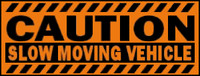 Caution Slow Moving Vehicle (Orange & Black)