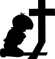 Boy Praying Decal