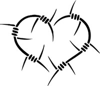 Barbwire Heart Decal