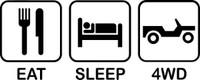 Eat Sleep 4WD Decal