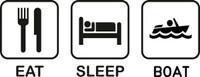 Eat Sleep Boat Decal