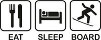 Eat Sleep Board Decal