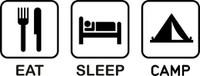 Eat Sleep Camp Decal