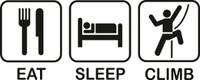 Eat Sleep Climb Decal