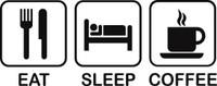 Eat Sleep Coffee Decal
