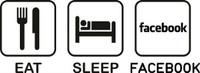 Eat Sleep Facebook Decal