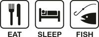 Eat Sleep Fish Decal