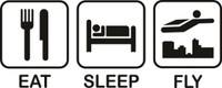 Eat Sleep Fly Decal