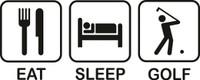 Eat Sleep Golf Decal