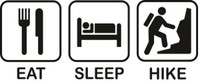 Eat Sleep Hike Decal