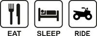 Eat Sleep ATV Decal