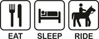 Eat Sleep Horses Decal