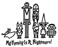 My Family Is A Nightmare Family Decals