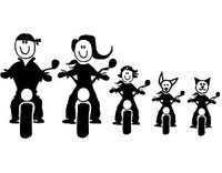 Motorcycle Family Decals