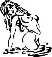 Sexy Girl In Water Decal