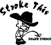 Cowboy Calvin On Power Stroke Decal
