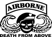 Airborne Death From Above Decal