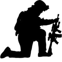 Kneeling Soldier Decal