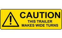 Caution This Trailer Makes Wide Turns #2