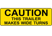 Caution This Trailer Makes Wide Turns #3