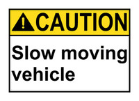 Caution Slow Moving Vehicle