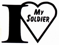 I Love My Soldier Decal 1