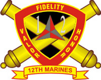 USMC 12th Marine Regiment Sticker