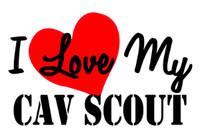 I Love My Cav Scout Sticker