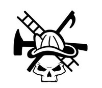 Fire Fighter Skull Decal