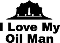 I Love My Oil Man Decal